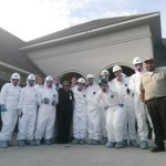Our team decked out in PPE